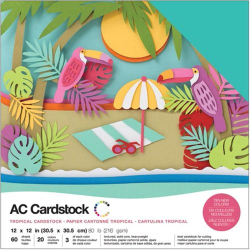 "American Crafts Cardstock Pack 12""X12"" - Tropicals"