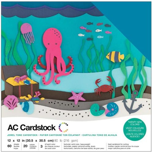 "American Crafts Cardstock Pack 12""X12"" - Jewel"