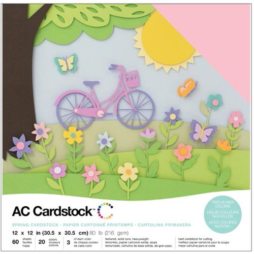 "American Crafts Cardstock Pack 12""X12"" - Spring"