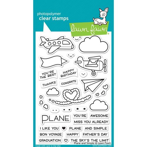 Clear Stamp - Plane & Simple