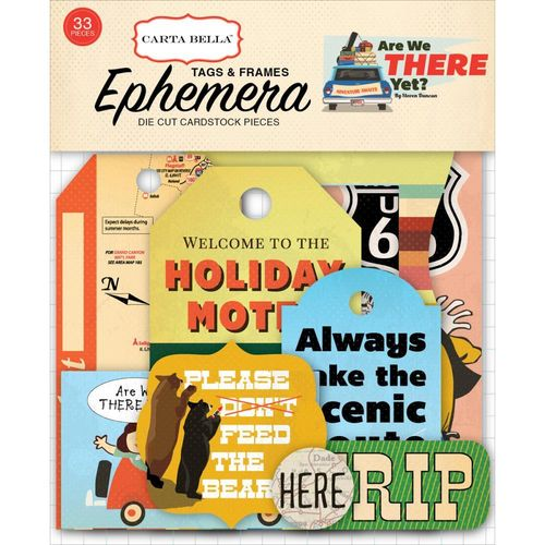 Are We There Yet? Ephemera Cardstock Die-Cuts - Frames & Tags