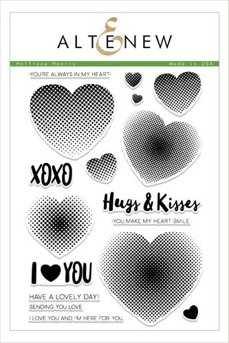 Clear - Halftone Hearts