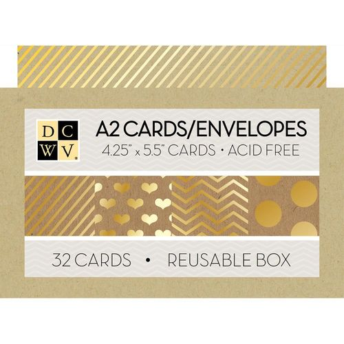 Box of Cards - Kraft W/Gold Foil