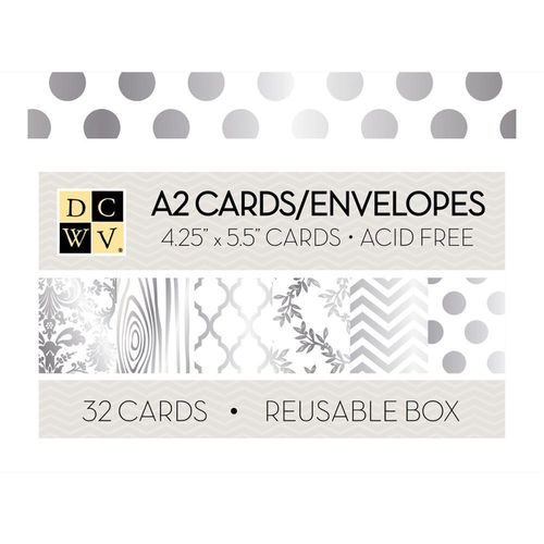 Box of Cards - White W/Silver Foil