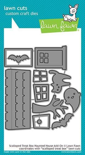 Stanzschablone Scalloped Treat Box Haunted House Add-On