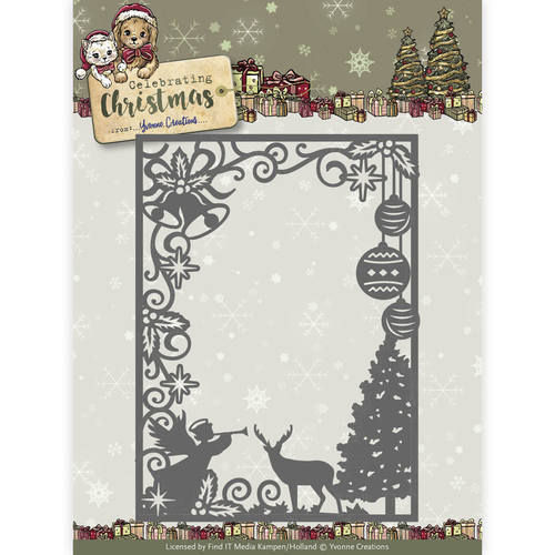 Stanzschablone Celebrating Christmas Scene Rectangle Frame