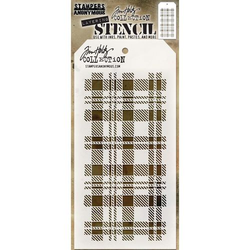 Tim Holtz Layered Stencil - Plaid