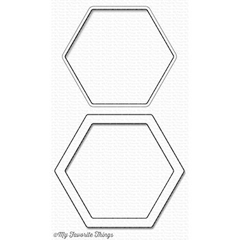 Stanzschablone - Hexagon Shaker Window & Frame