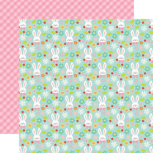 Papier Hello Easter - Bunnies/Pink On Pink Plaid