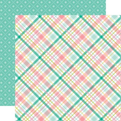 Papier Hello Easter - Green, Pink & Yellow Plaid/Green Boxes