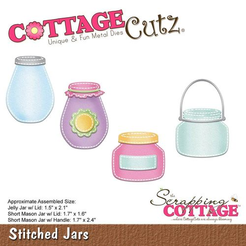 Stanzschablone Stitched Jars