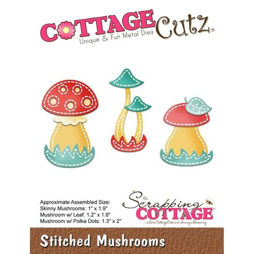 Stanzschablone Stitched Mushrooms