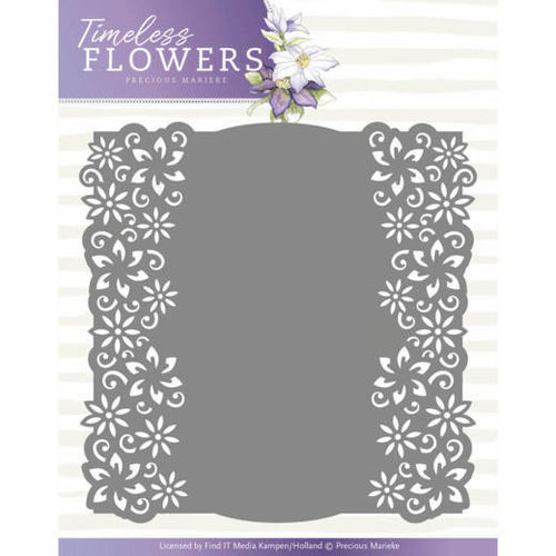 Stanzschablone Timeless Flowers - Clematis Frame