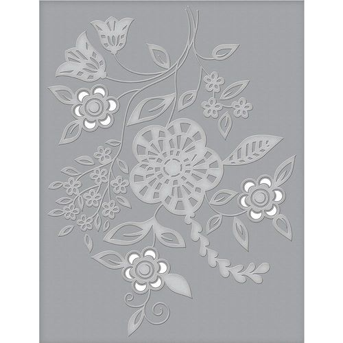 Spellbinders Cutting Embossing Folders - Blooming Sprigs