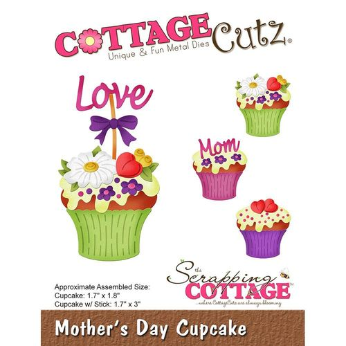 Stanzschablone Mother's Day Cupcake