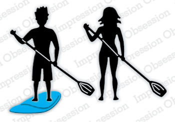 Stanzschablone Paddleboarders