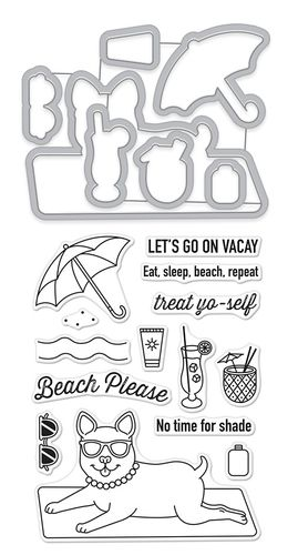 Beach Please Stamp & Cut