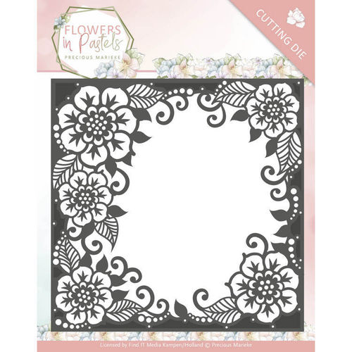 Stanzschablone Flowers in Pastels - Floral Frame