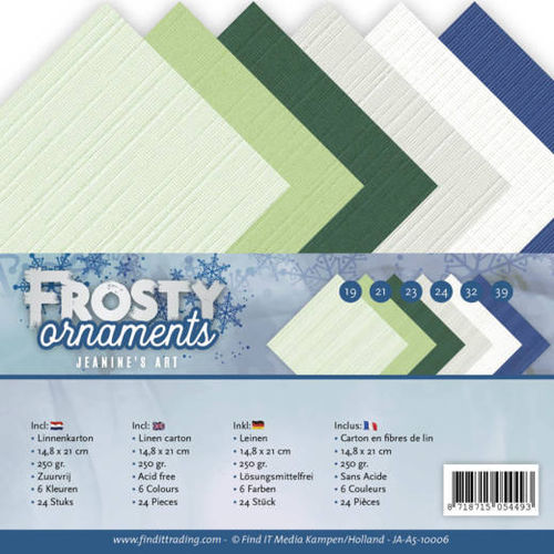 Cardstock Sortiment - Frosty Ornaments A5
