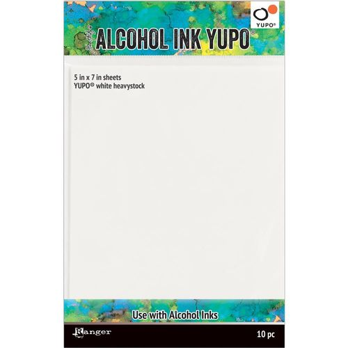 "Tim Holtz Alcohol Ink White Yupo Paper 5""x7"" - Heavystock"