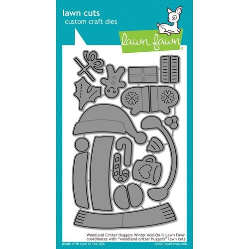 Stanzschablone - Woodland Critter Huggers Winter Add-On