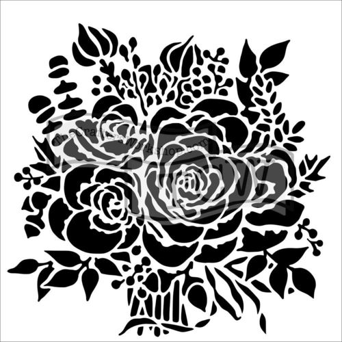 "Schablone Rose Bouquet 6"" x 6"""