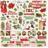 "Simple Vintage Christmas Cardstock Stickers 12""X12"" - Combo"