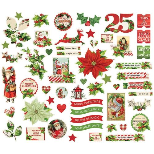 Simple Vintage Christmas Bits & Pieces Die-Cuts