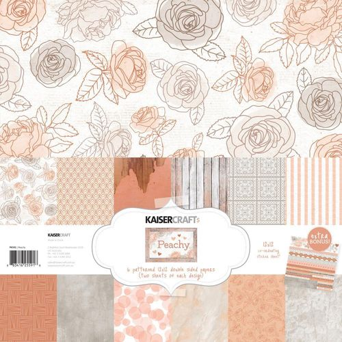 "Peachy Paper Pack 12""x12"""