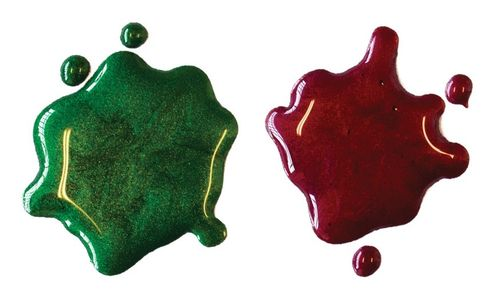 Glimmer Metallic Inks - Green & Red