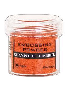 Embossingpulver Orange Tinsel