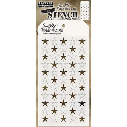 Tim Holtz Layered Stencil - Shifter Stars