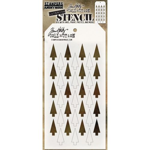 Tim Holtz Layered Stencil - Shifter Trees