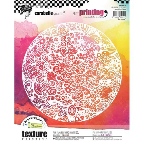 Art Printing Round Rubber Texture Plate - Fancy
