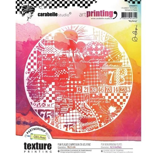Art Printing Round Rubber Texture Plate - Big Bang