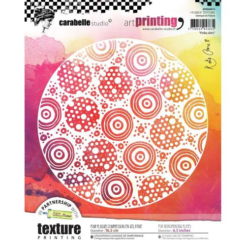 Art Printing Round Rubber Texture Plate - Polka Dots