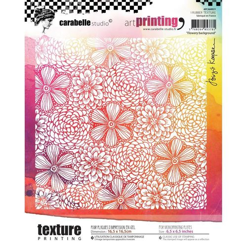 Art Printing Square Rubber Texture Plate - Flowery Background