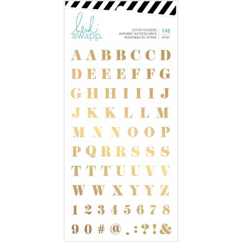 Heidi Swapp Emerson Lane Stickers - Alphabet with Gold Foil