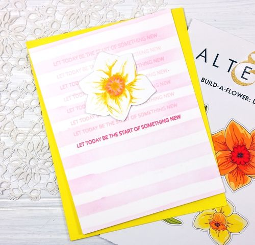 Clear Stamp & Die Set Build-A-Flower - Daffodil