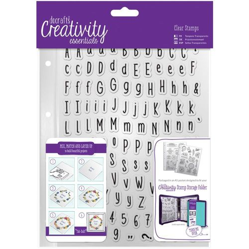 Creativity Essentials A5 Clear Stamp Set - Alphas Folk