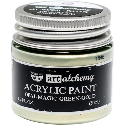 Finnabair Art Alchemy Opal Magic Acrylic Paint - Green/Gold