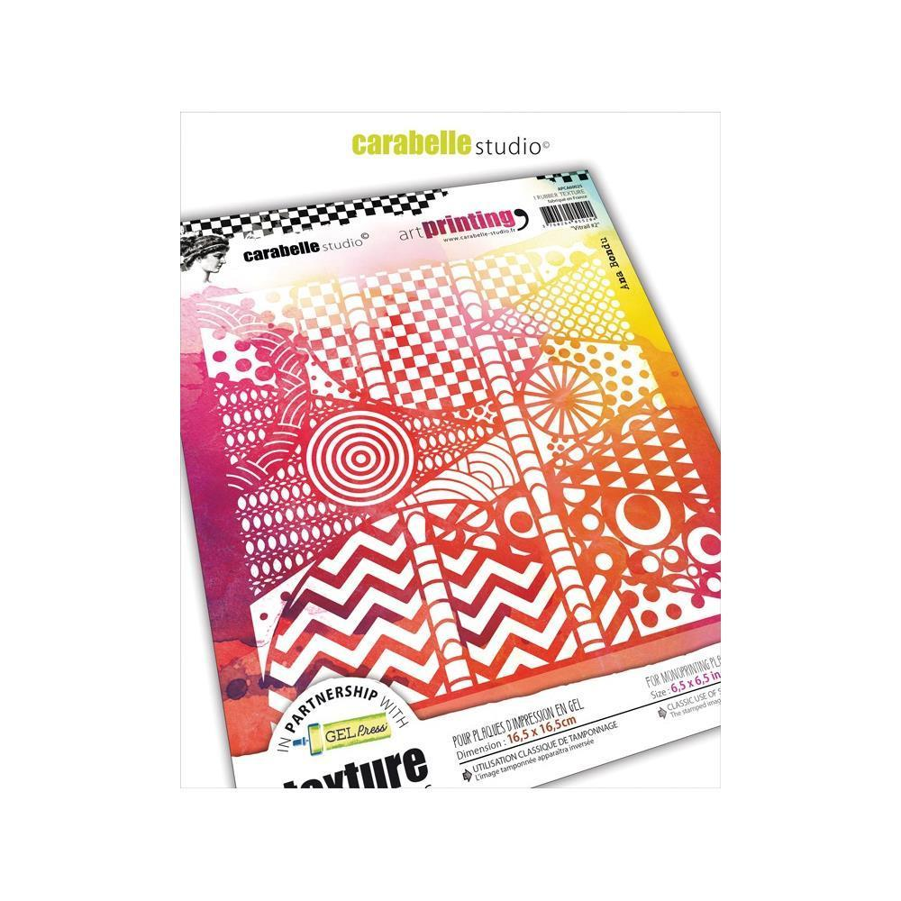 Art Printing Square Rubber Texture Plate - Vitrail #2 - Stempeloase München