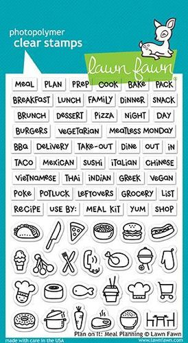 Clear Stamp - Plan on It: Meal Planning