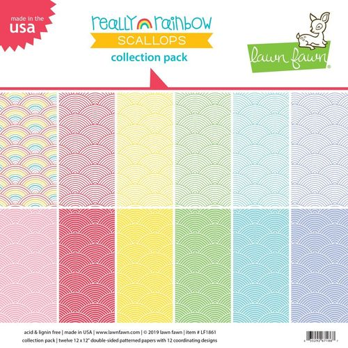 "Really Rainbow Scallops Collection Pack 12""x12"""