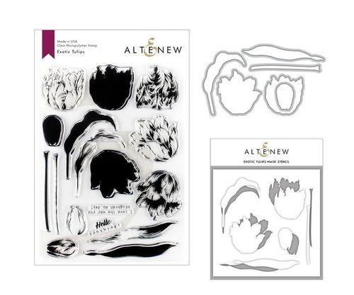 Clear Stamp & Die & Mask Stencil Bundle - Exotic Tulips
