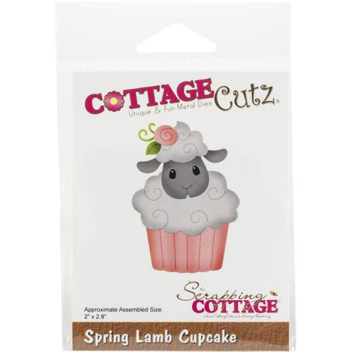 Stanzschablone Spring Lamb Cupcake