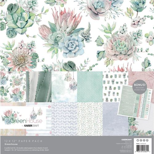 "Greenhouse Paper Pack 12""x12"""