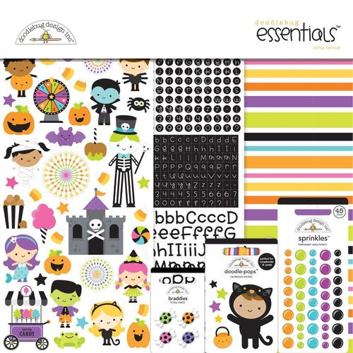 "Doodlebug Essentials Page Kit 12""X12"" - Candy Carnival"