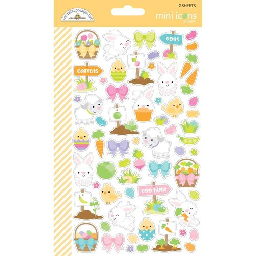 Doodlebug Mini Cardstock Stickers - Hoppy Easter