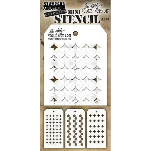 Tim Holtz Mini Layered Stencil Set #40